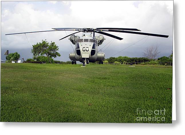 A Rh-53d Sea Stallion Helicopter Greeting Card by Michael Wood