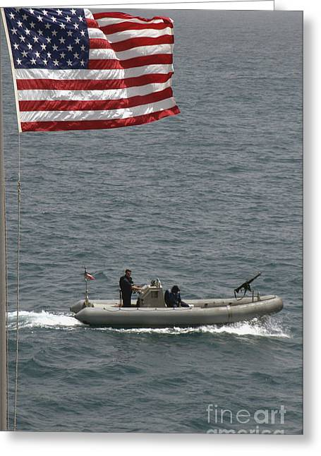 Inflatable Boats Greeting Cards - A Rigid Hull Inflatable Boat Greeting Card by Stocktrek Images