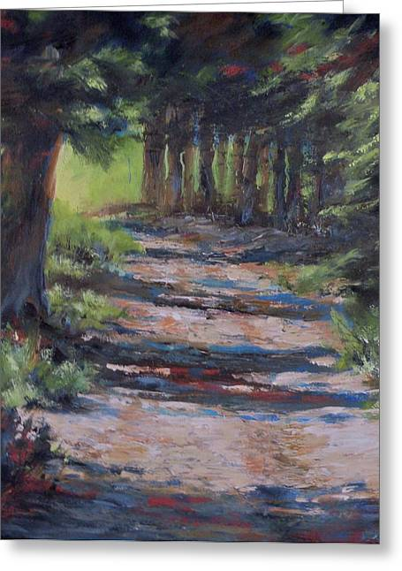 Mia Delode Greeting Cards - A Road Less Travelled Greeting Card by Mia DeLode