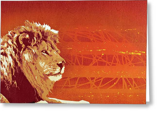 Lion Greeting Cards - A Roaring Lion Kills No Game Greeting Card by Iosua Tai Taeoalii