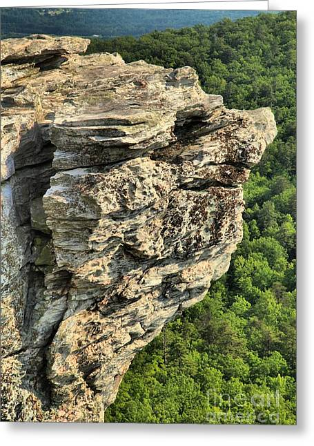 Ledge Photographs Greeting Cards - A Rocky Grin Greeting Card by Adam Jewell