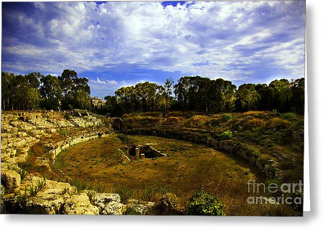 Ancient Ruins Greeting Cards - A Ruin in Sicily Greeting Card by Madeline Ellis