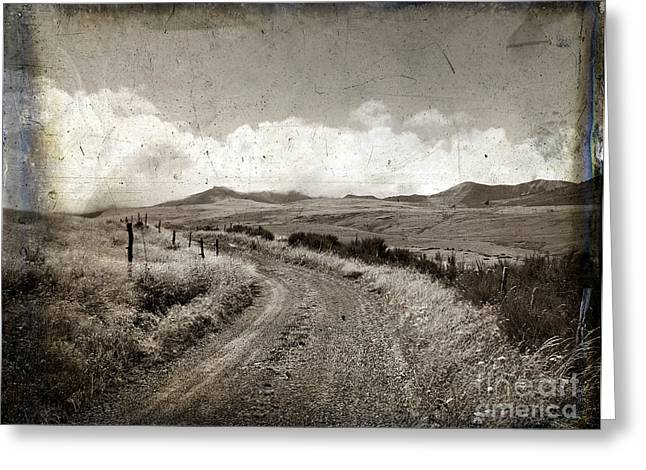 Eternity Greeting Cards - A rural path in Auvergne. France Greeting Card by Bernard Jaubert
