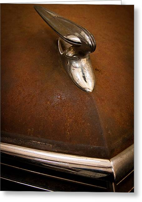Express Greeting Cards - A Rusty 1937 Studebaker Greeting Card by David Patterson