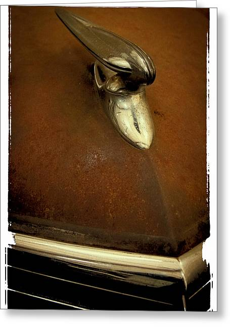 Express Greeting Cards - A Rusty 1937 Studebaker II Greeting Card by David Patterson