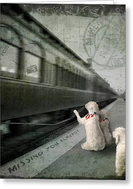 Missing Paintings Greeting Cards - A Sad Goodbye Greeting Card by Suni Roveto