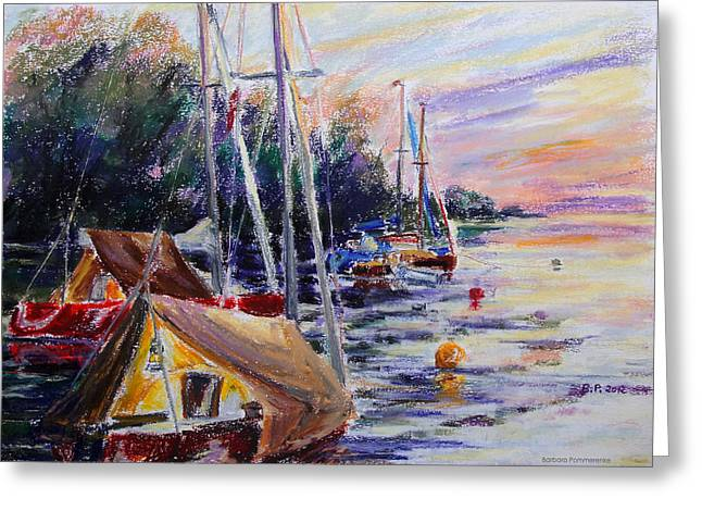 Seen Pastels Greeting Cards - A Safe Place For The Night Greeting Card by Barbara Pommerenke