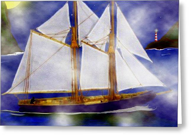 Quality Greeting Cards - A Sailors Dream Greeting Card by Madeline  Allen - SmudgeArt