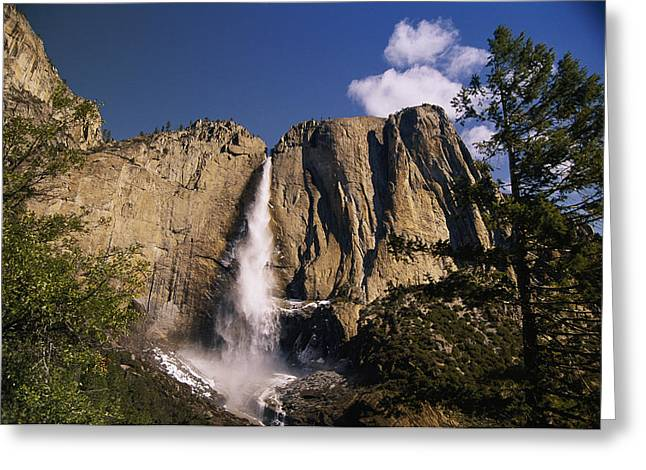 A Scenic View Of A Waterfall Greeting Card by Paul Nicklen