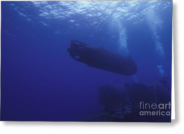 Special Delivery Greeting Cards - A Seal Delivery Vehicle Approaches Greeting Card by Michael Wood