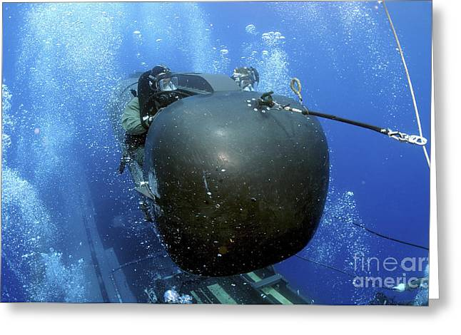 Special Delivery Greeting Cards - A Seal Delivery Vehicle Team Member Greeting Card by Stocktrek Images
