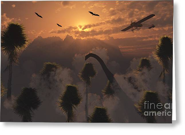 Primeval Greeting Cards - A Secret Lost World Where Time Stands Greeting Card by Mark Stevenson