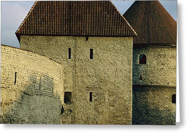 Slavic Greeting Cards - A Section Of Wall Around Tallinn, Built Greeting Card by Sisse Brimberg