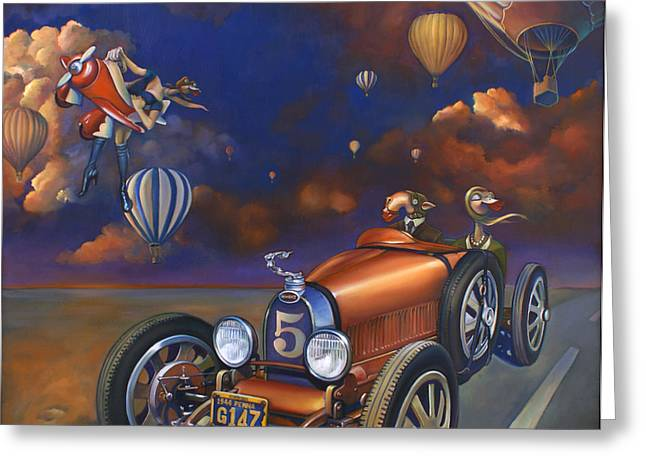 Bugatti Greeting Cards - A Selfish Pair of Jeans Greeting Card by Patrick Anthony Pierson