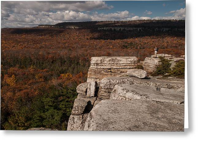 Shawanagunk Mountains Greeting Cards - A Sense of Scale Greeting Card by Jim DeLillo
