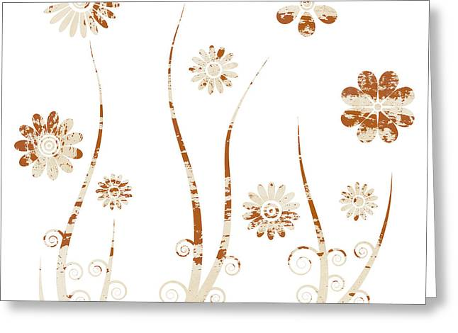Chic Mixed Media Greeting Cards - A shabby meadow Greeting Card by Frank Tschakert