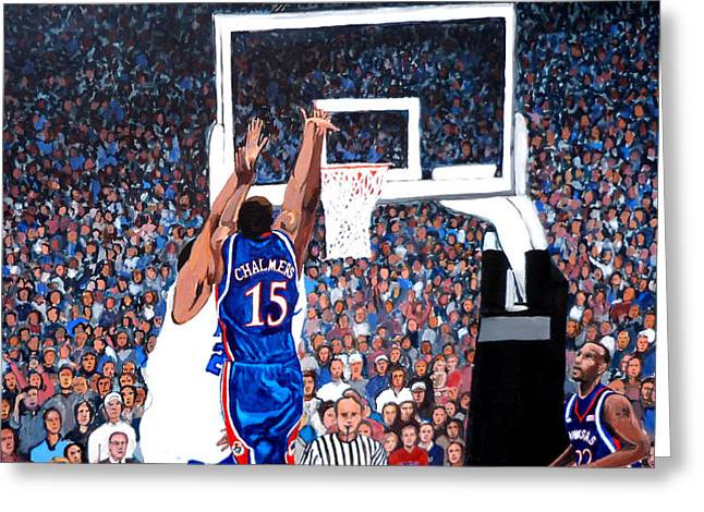 A Shot to Remember - 2008 National Champions Greeting Card by Tom Roderick