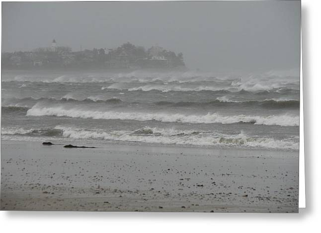 Best Sellers -  - Storm Clouds Cape Cod Greeting Cards - A Sign of the Tides Greeting Card by Brian Mazzoli