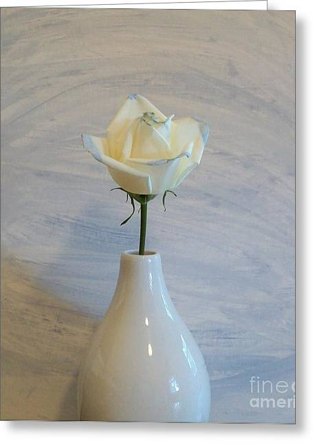 Floral Photos Greeting Cards - A Simple Rose Greeting Card by Marsha Heiken