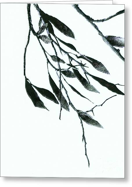 A Single Branch Greeting Card by Ann Powell
