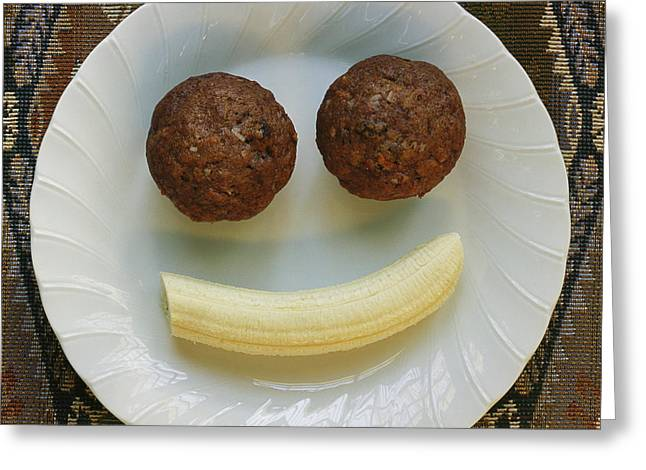 American Food Greeting Cards - A Smiling Breakfast Of Muffins Greeting Card by Marc Moritsch