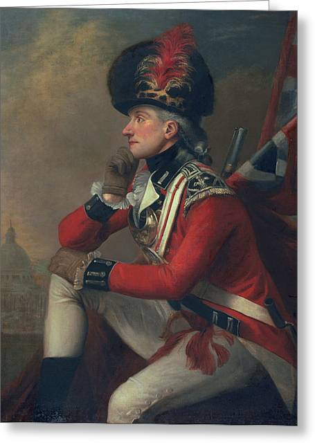 Pensive Greeting Cards - A soldier called Major John Andre Greeting Card by English School
