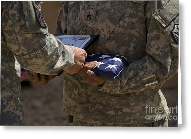 A Soldier Is Presented The American Greeting Card by Stocktrek Images