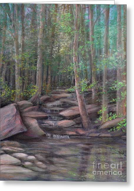 Brook Pastels Greeting Cards - A Special Place Greeting Card by Penny Neimiller