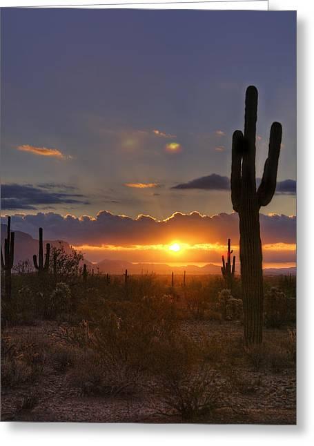 A Spectacular Sunrise  Greeting Card by Saija  Lehtonen