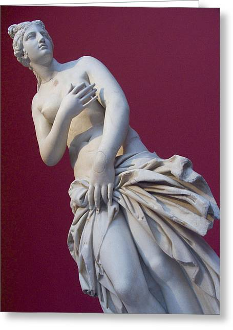 Greek Sculpture Greeting Cards - A Statue Of Aphrodite At The Acropolis Greeting Card by Richard Nowitz