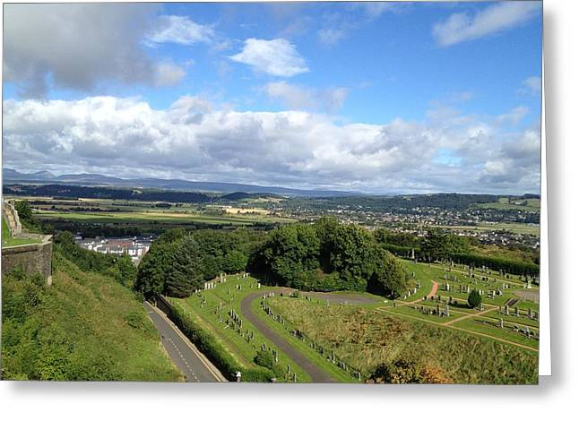 A Stirling View Greeting Card by Michael McKenzie