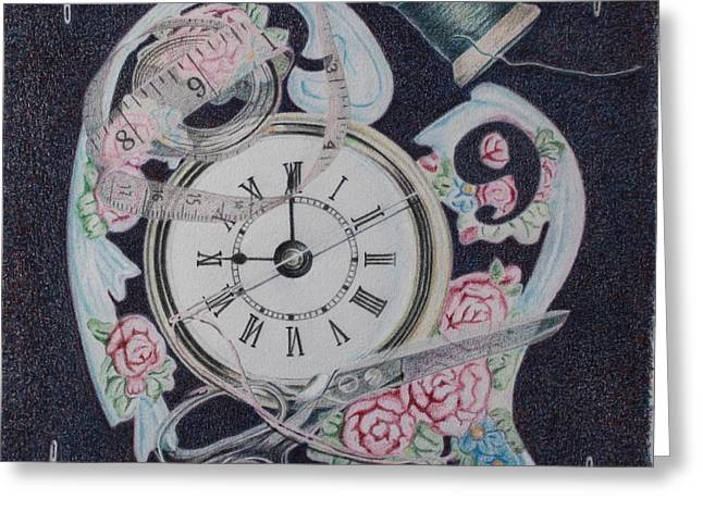 Fantasy Realistic Still Life Greeting Cards - A Stitch in Time Greeting Card by Patsy Sharpe