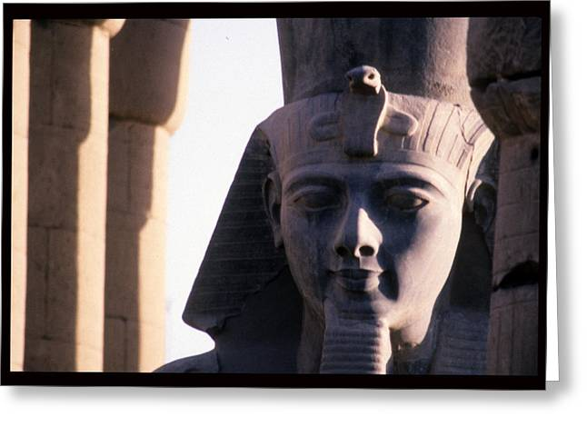 Pharaoh Greeting Cards - A Stone Statue Of Ramses Ii Greeting Card by Martin Gray