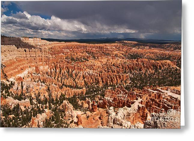 Southern Utah Greeting Cards - A Storm Approaches Bryce Canyon Greeting Card by Bob and Nancy Kendrick