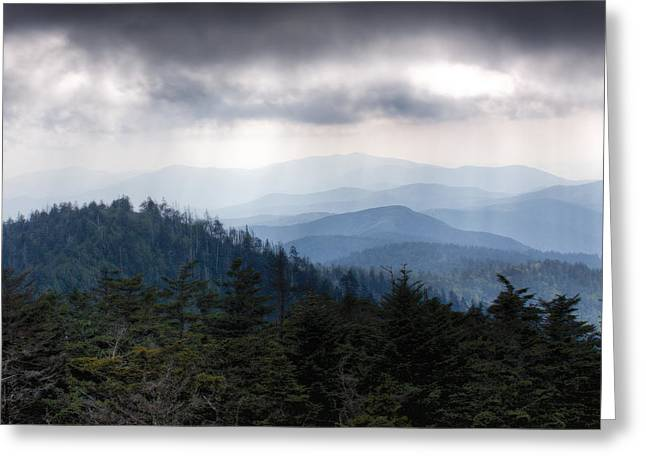 Great Smokey Mountains Greeting Cards - A Storm Over the Smokys Greeting Card by Pixel Perfect by Michael Moore