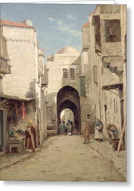 A Street In Jerusalem Greeting Card by Percy Robert Craft