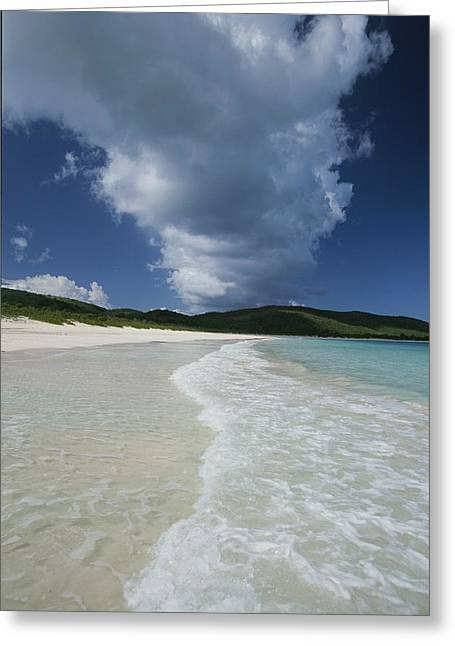 Culebra Greeting Cards - A Strip Of Cumulous Clouds Follows This Greeting Card by Michael Melford