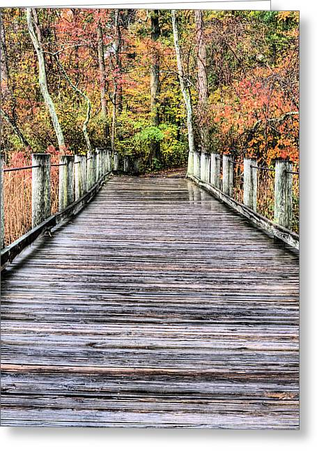 Jogging Greeting Cards - A Stroll Through Autumn Greeting Card by JC Findley