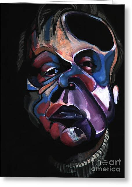 Spokane Paintings Greeting Cards - A Study for a Portrait of Francis Bacon I Greeting Card by Ryan Babcock