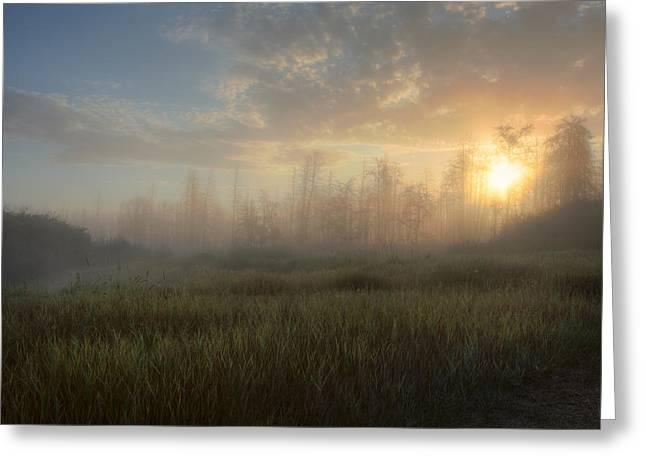 Alberta Prairie Landscape Greeting Cards - A Summer Sunrise On The Edge Greeting Card by Dan Jurak