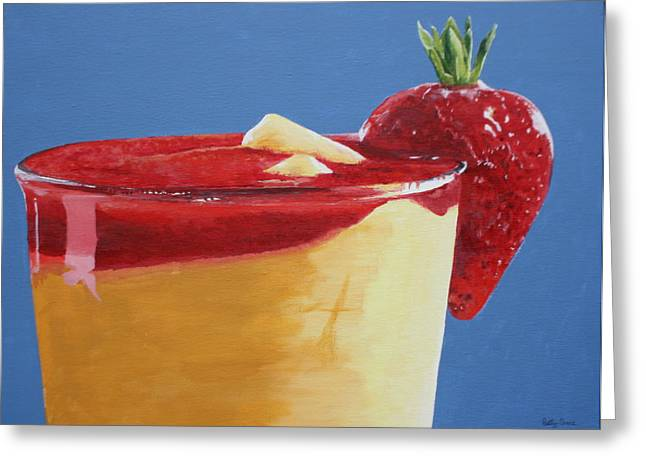 Daiquiri Greeting Cards - A Summertime Drink..... Greeting Card by Betty-Anne McDonald