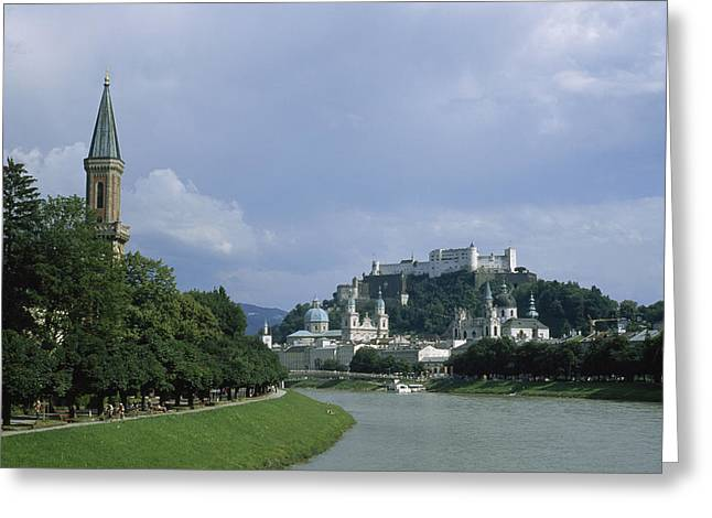 Salzburg Greeting Cards - A summertime view of Greeting Card by Taylor S. Kennedy