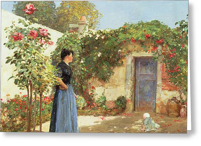 A Sunny Morning Greeting Card by Childe Hassam