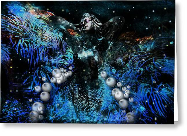 Fantasy Greeting Cards - A Tale Of A Mermaid Greeting Card by Tisha McGee