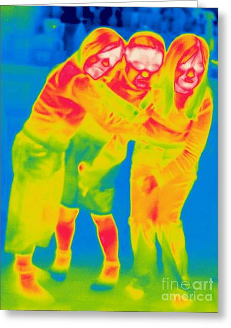Thermogram Greeting Cards - A Thermogram Of Group Of Children Greeting Card by Ted Kinsman