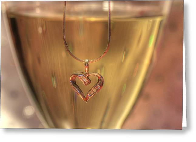 A Toast To Love Greeting Card by Sharon Batdorf