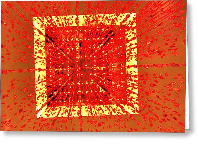 Burst Digital Art Greeting Cards - A Total Burst of the Heart Greeting Card by Kristin Elmquist