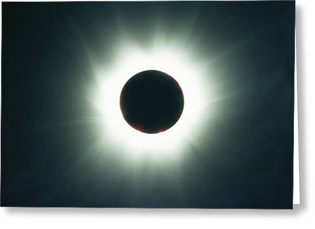 A Total Solar Eclipse Over France Greeting Card by Carsten Peter