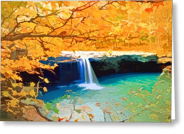 Steve Huang Greeting Cards - A Touch of Fall Greeting Card by Steve Huang