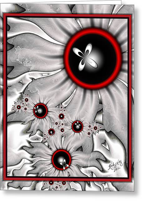 Karlajkitty Digital Art Greeting Cards - A Touch Of Red Greeting Card by Karla White